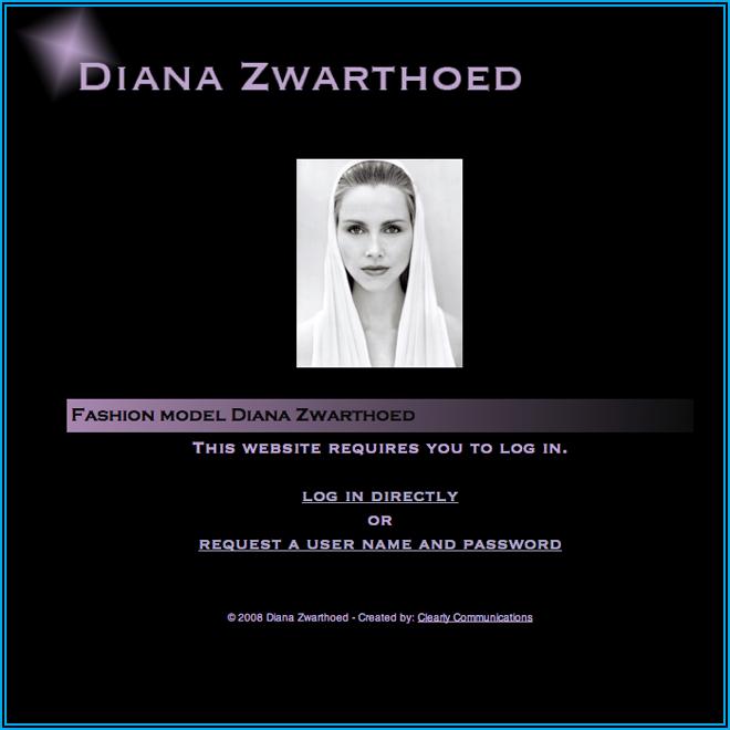 Screen Shot Diana Zwarthoed - Model - Home