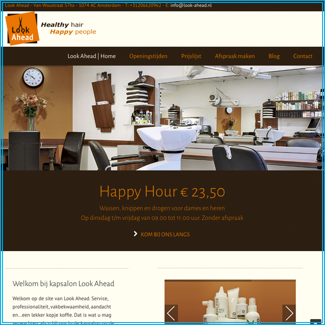 Screen Shot Kapsalon Look Ahead - 2014 Homepage