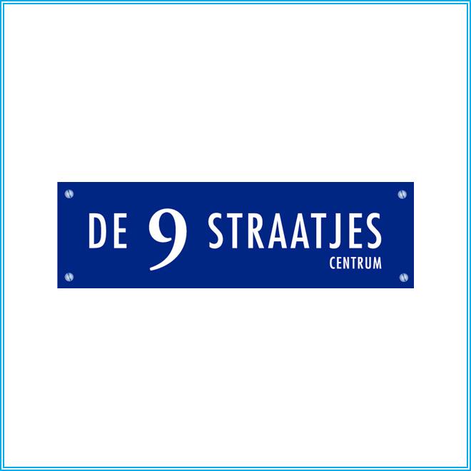 Logo van De 9 Straatjes in Amsterdam