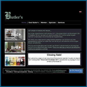 Screen Shot Butler's - Home - 2008-2011
