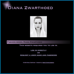 Screen Shot Diana Zwarthoed - Model - Home